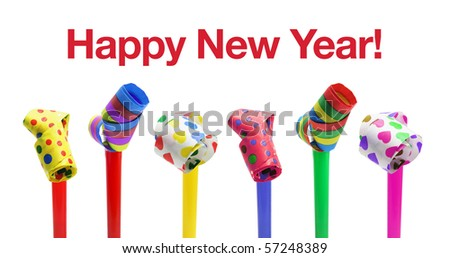 Happy New Year Concept on White Background - stock photo