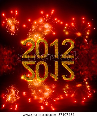 Happy new year 2012, congratulation in english