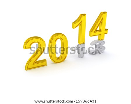 Happy New Year 2014. 3d