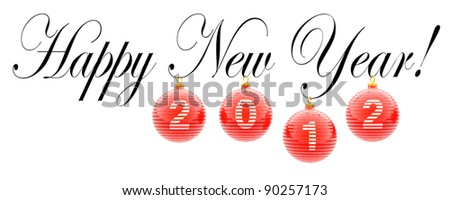 Happy New Year 2012 (design element for a Christmas card)
