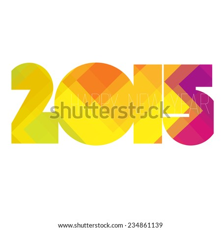 Happy New Year 2015 Design. Raster version - stock photo