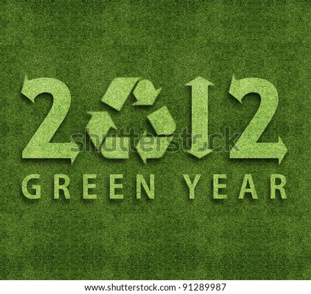 Happy new year 2012, ecology conceptual image for 2012 year. - stock photo