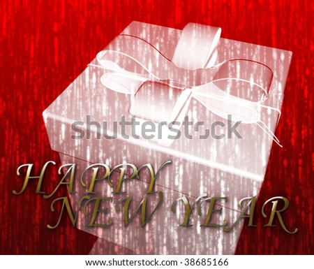 Happy New Year festive special occasion celebration abstract illustration - stock photo