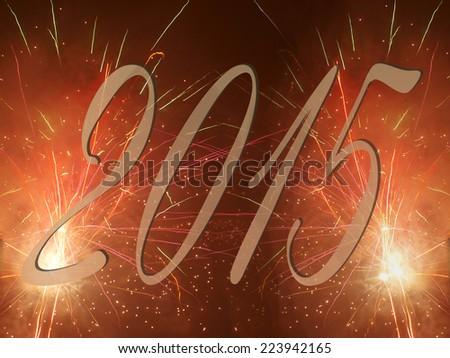 happy new year 2015 firework    - stock photo
