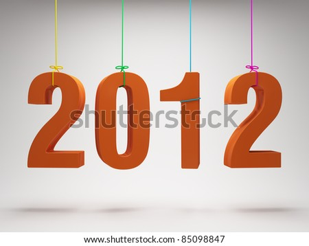 Happy New Year 2012 greeting card - stock photo