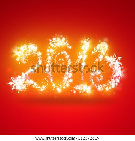 Happy New Year 2013 Greeting Card Template - stock photo