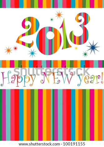 Happy new year 2013! Illustration - stock photo