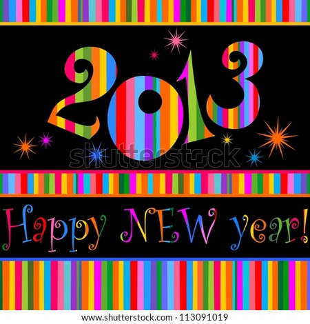 Happy new year 2013!  illustration - stock photo