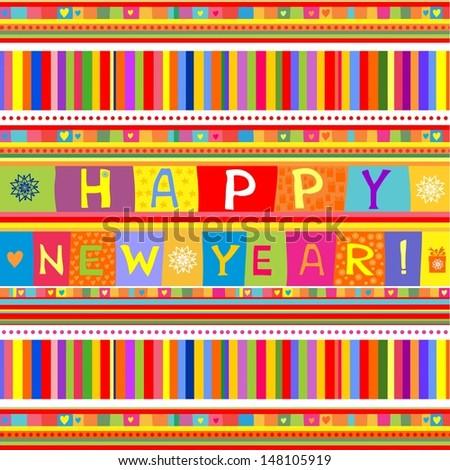 Happy new year!  illustration  - stock photo