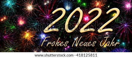 Happy New Year 2022 in German