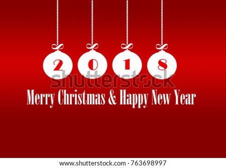 Happy new year 2018 merry christmas stock illustration 763698997 happy new year 2018 merry christmas congratulations greeting card m4hsunfo