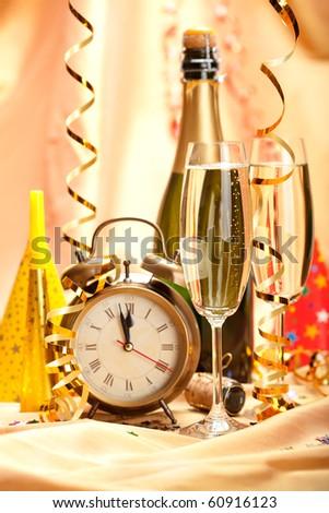 Happy new year - party decoration - stock photo