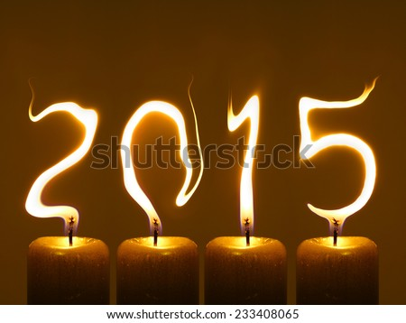 Happy new year 2015 - Pour Feliciter 2015 - stock photo