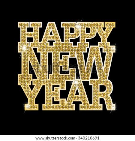 Happy New Year. Raster version  - stock photo