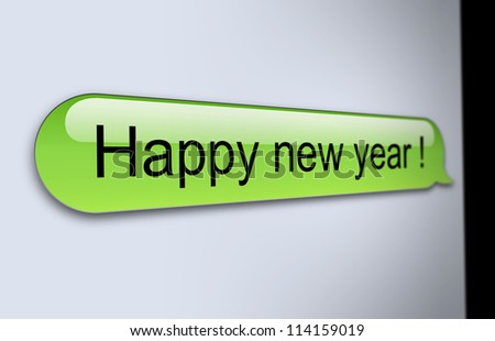 Happy new year SMS - stock photo
