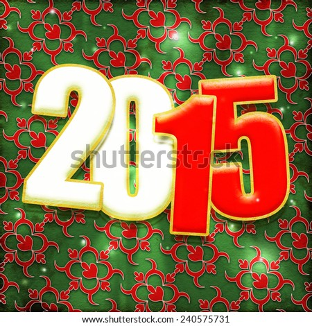 Happy new year 2015 Text Design - stock photo