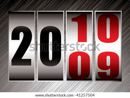 Happy new year this illustration marks the change between 2009 and 2010 - stock photo