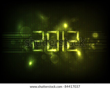 Happy new year 2012.Vector version available in my gallery. - stock photo