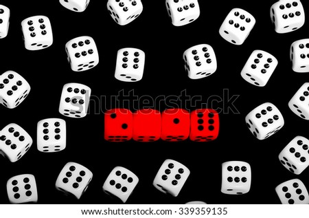 Happy new year 2016 wallpaper made from red dice - isolated over black