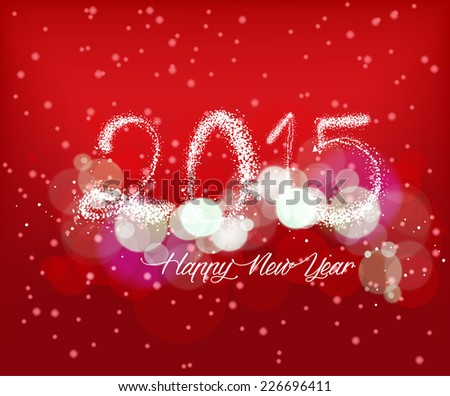 Happy new year with light background - stock photo