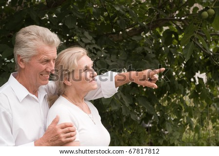 happy nice couple in a summer  park