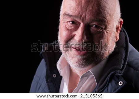 happy old man smiling - stock photo