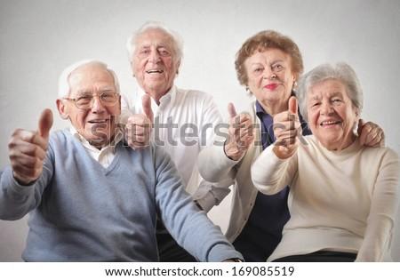 Happy Oldies - stock photo