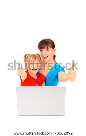 Happy online shopping - stock photo