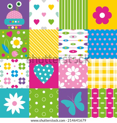 patchwork background quilt patchwork texture seamless colorful vector stock 6006