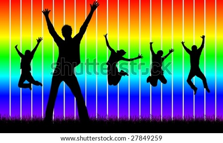 happy people - stock photo
