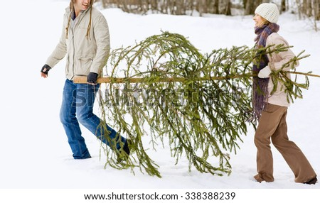 happy  people  have fun and enjoy fresh snow at beautiful winter - stock photo