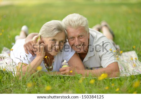 Happy people resting on a sunny summer day - stock photo