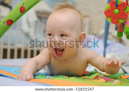 Happy playful baby