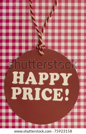 happy price tag - stock photo