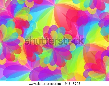 Happy rainbow colorful floral texture