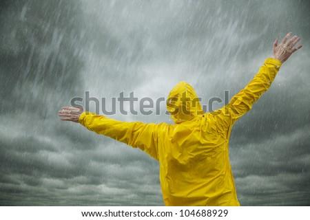 Happy rainy season - stock photo