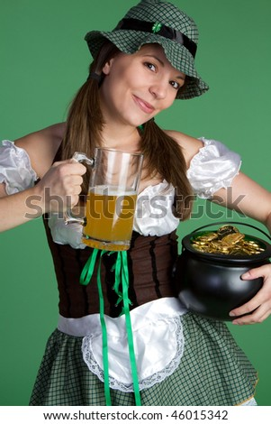 Happy Saint Patrick's Girl - stock photo