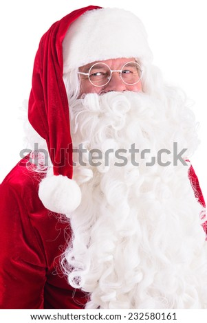 happy Santa Claus. Isolated on white background