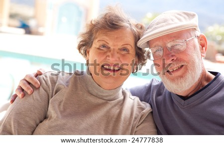 Happy Senior Adult Couple Enjoying Life Together. - stock photo