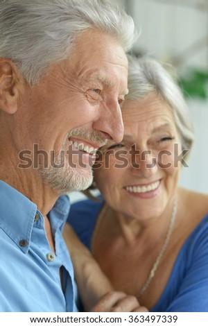 Happy senior couple - stock photo