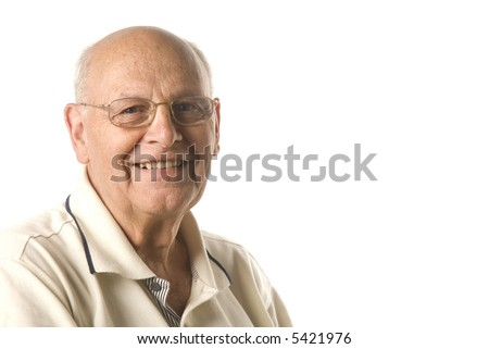 Happy senior man - stock photo