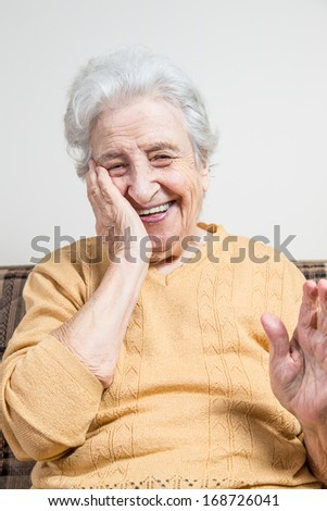 happy senior woman - stock photo