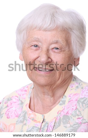Happy Senior Woman Portrait - stock photo