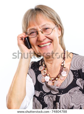 Happy Senior Woman With A Lovely Smile - stock photo