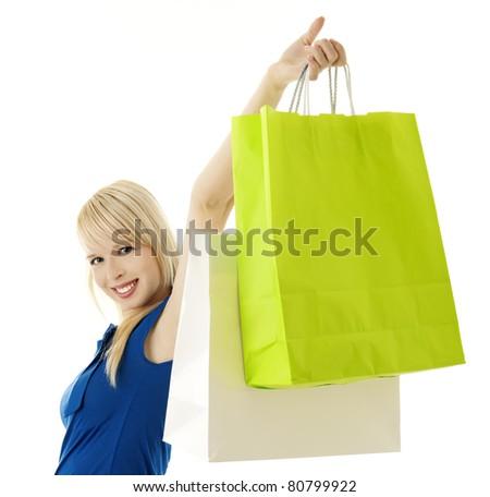 happy shopper - stock photo