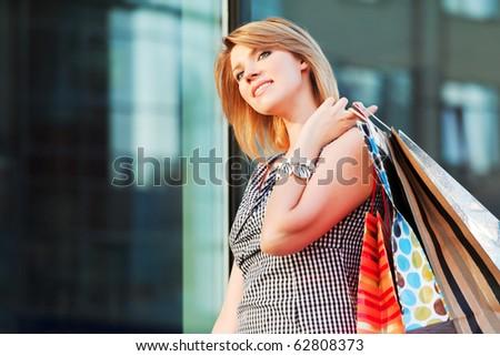 Happy shopping. - stock photo