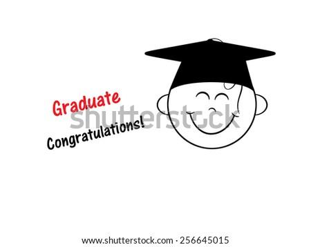 Happy Smile - Graduate - stock photo