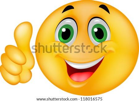 Happy Smiley Emoticon Face - stock photo