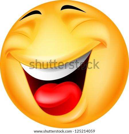 Happy smiley face - stock photo