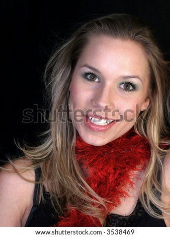 Happy Smiling Blond Woman
